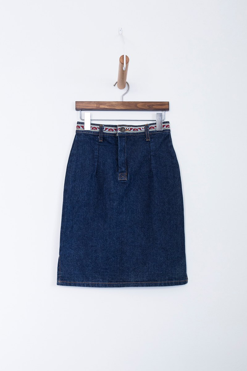 Banana Flyin | Vintage Washed Retro Vintage Denim Skirt