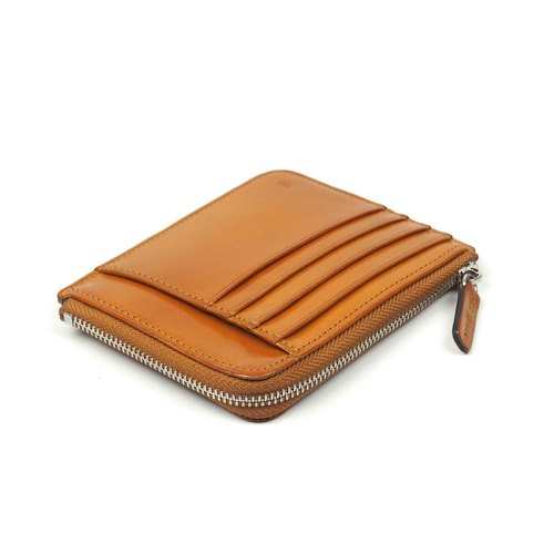 Card zip purse /Laterite TAN