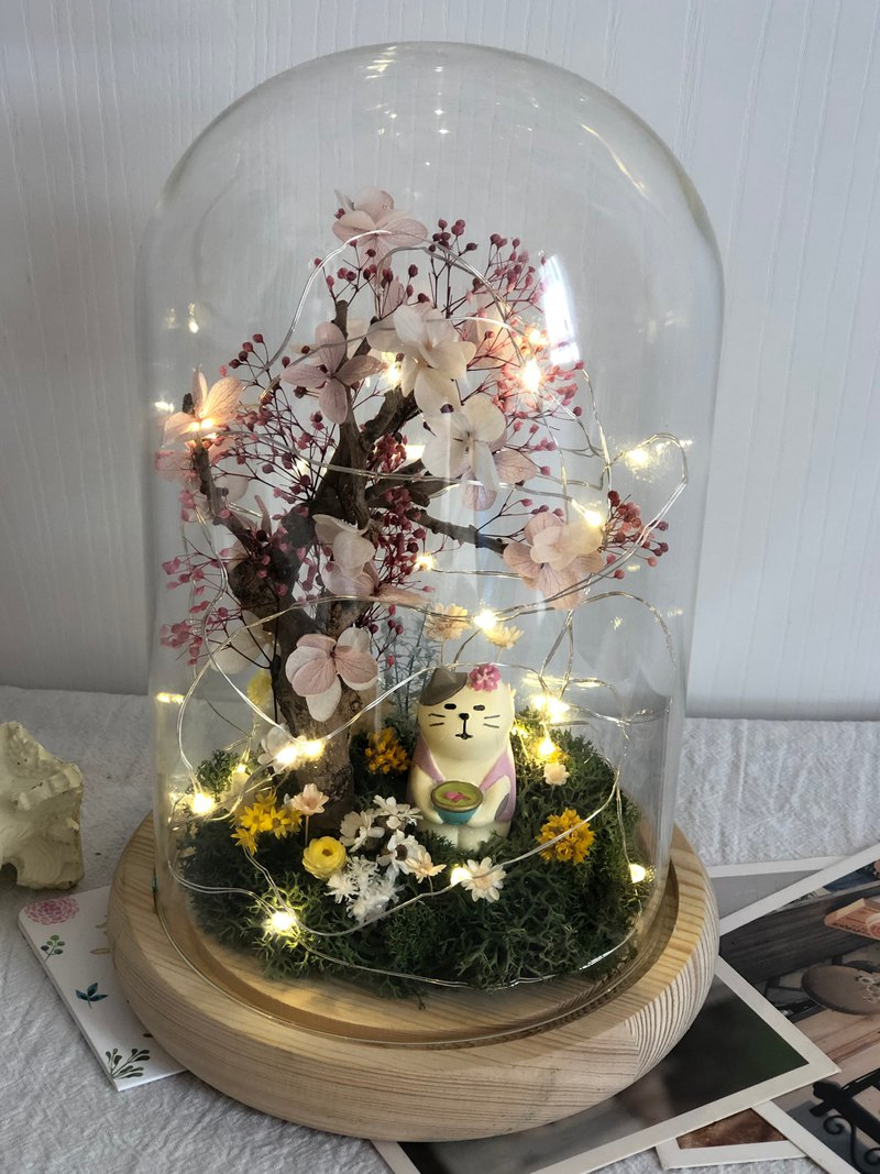 Cherry blossom viewing without flower glass cover Valentine gift birthday gift