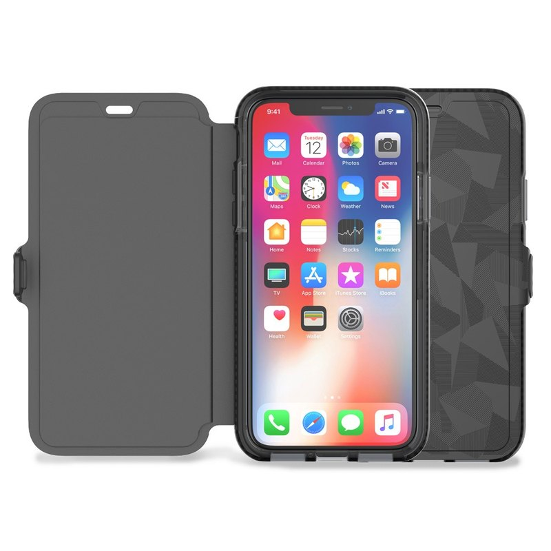 Tech21 UK Super Impact Evo Wallet iPhone X Collision Soft Protector - Black (5055517385541)