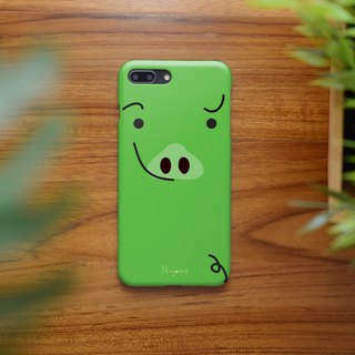 iphone case little green cute pig for iphone5s,6s,6s plus, 7,7+, 8, 8+,iphone x