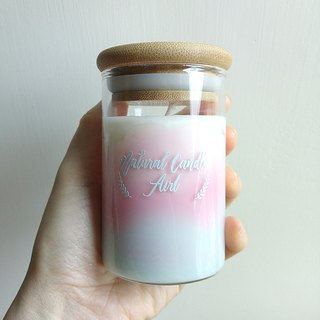 Happy Mountain Pink | Natural Soywax Candle | Rose Jasmine Strawberry | Gift