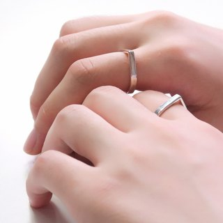 Rain Sound Drop Shape 925 Silver Ring (One Pair) -64DESIGN