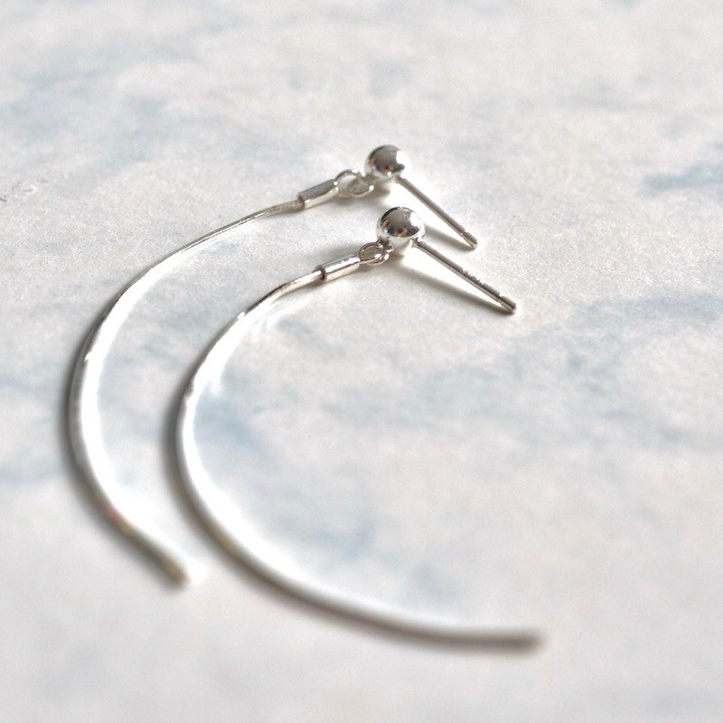 ITS-E129 [earring series, straight line] 925 silver delicate earrings earrings.