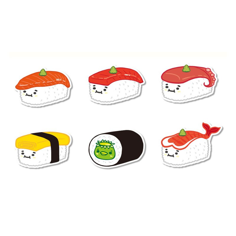Waterproof sticker - delicious sushi