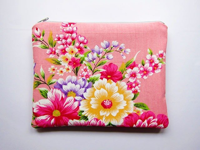 Large zipper bag / Pencil / Cosmetic foundation Hakka fabric