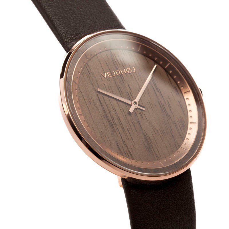 VEJRHOJ Denmark Hoy classic wood watch-Element Rose Gold - American walnut