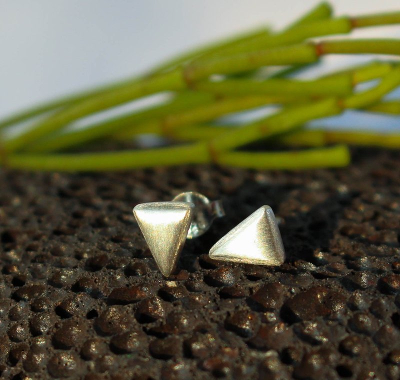 Triangle - Silver Earrings / Sterling Silver / Earrings