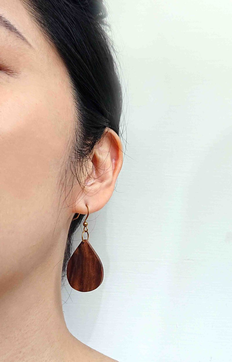 Log pure hand made earrings (Three Gorges Xiao Nan)