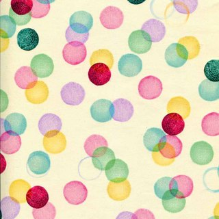 Colorful round dot wrapping paper (Hallmark-wrapping paper)