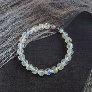 [Ofelia.] Natural Stone Series - Lavender Amethyst silver natural Moonstone x x x cordierite seawater sapphire Bracelet [J93-Noreen] Crystal / natural stone