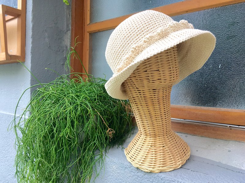 Eleanor Eleanore raw cotton hand-woven fisherman hat chokdee-muakdeedee