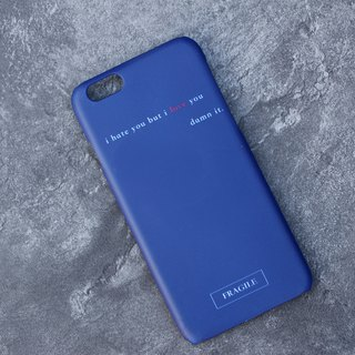 i hate u but i love u mobile phone matte hard shell - micro back design