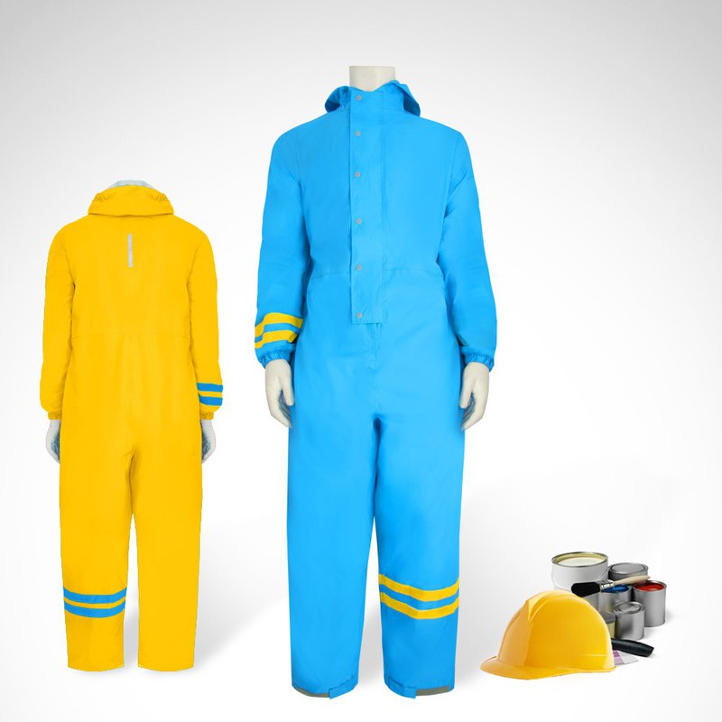 TDN Taiwan non-toxic material adult raincoat (super light jumpsuit front raincoat waterproof work clothes)