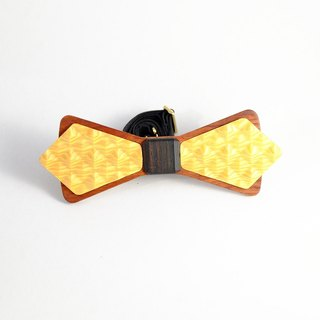 Wooden tie natural wood texture tie 3D WOOD TIE Millimeter classic yellow wedding couple photo
