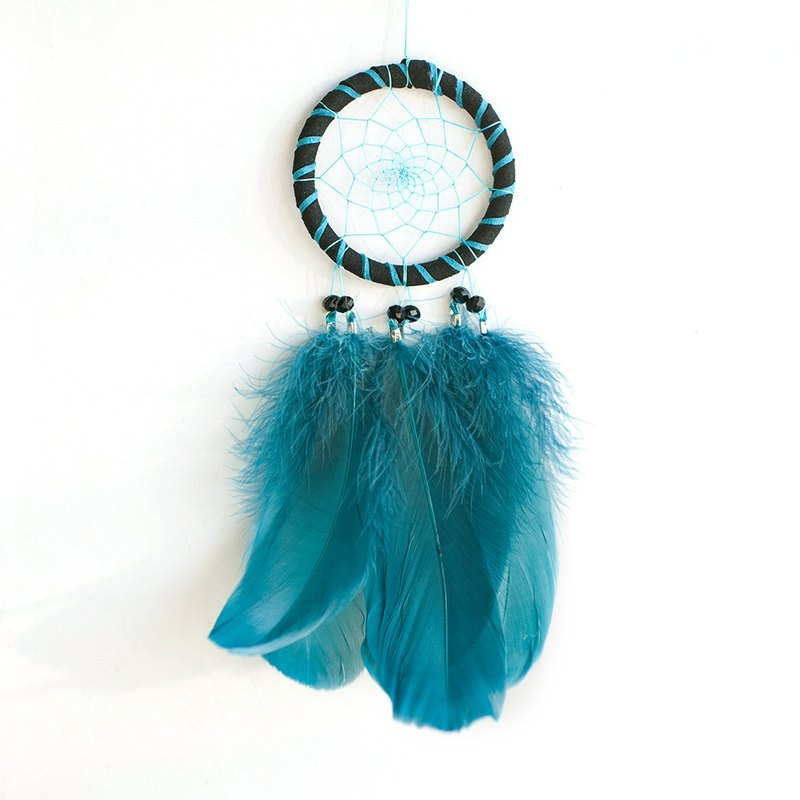 Deep Lake Water Blue (not equal to two colors) - Dream Catcher 8cm - Gift for boyfriend