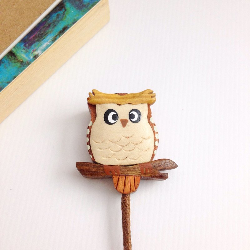 [Owl Leather Rope Bookmarks] March
