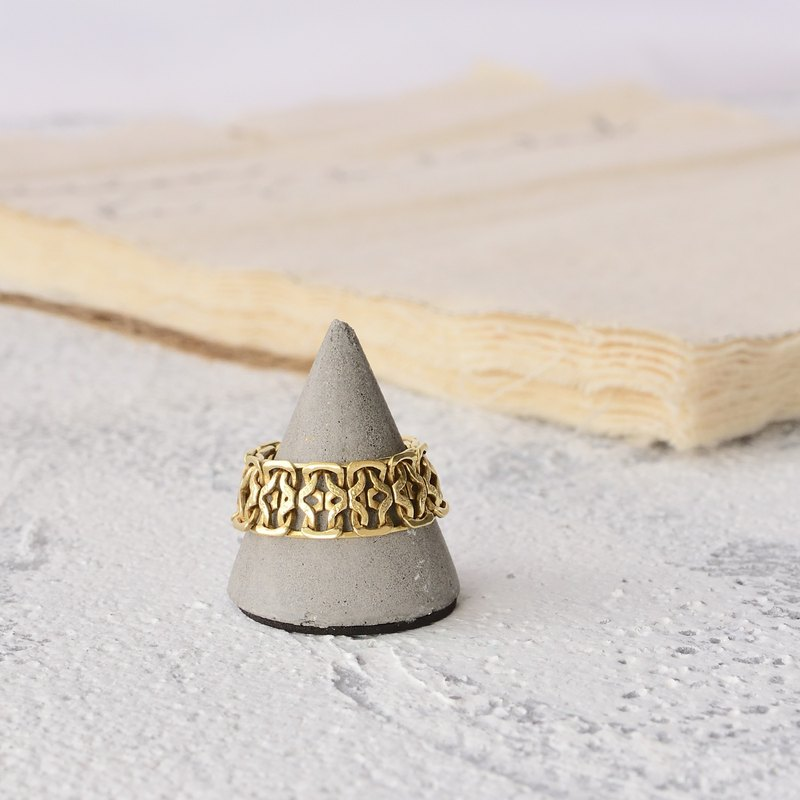Handmade brass ring arthur king