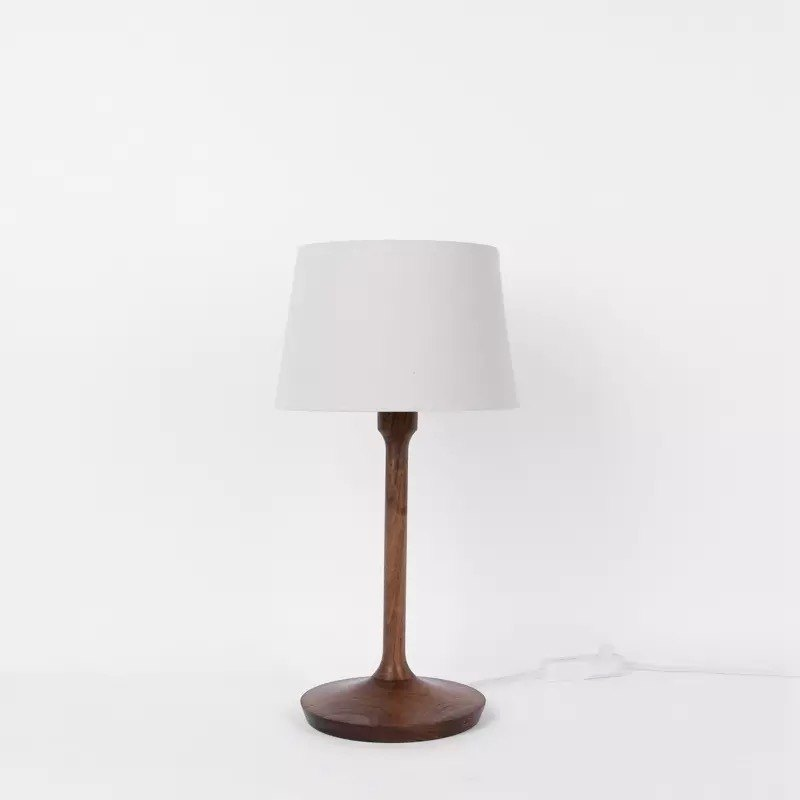 Work solid wood table lamp. North American Walnut