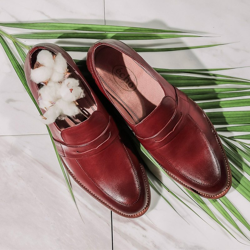 e cho simple and elegant lambskin Carrefour shoes Ec37 Bordeaux