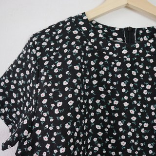 Memo duo top in black bloom