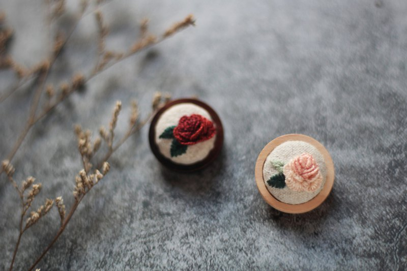 Hand embroidery pins. rose