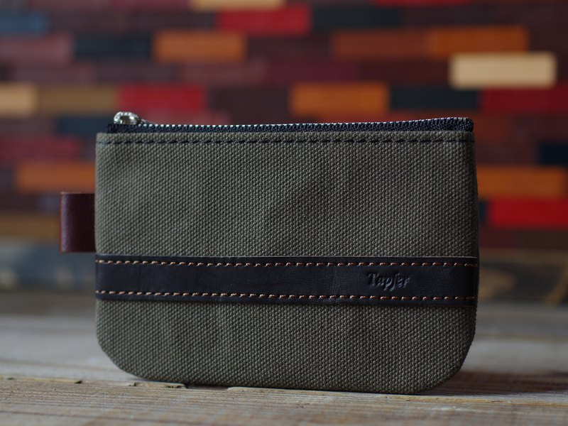 Canvas × Nume leather pouch mini
