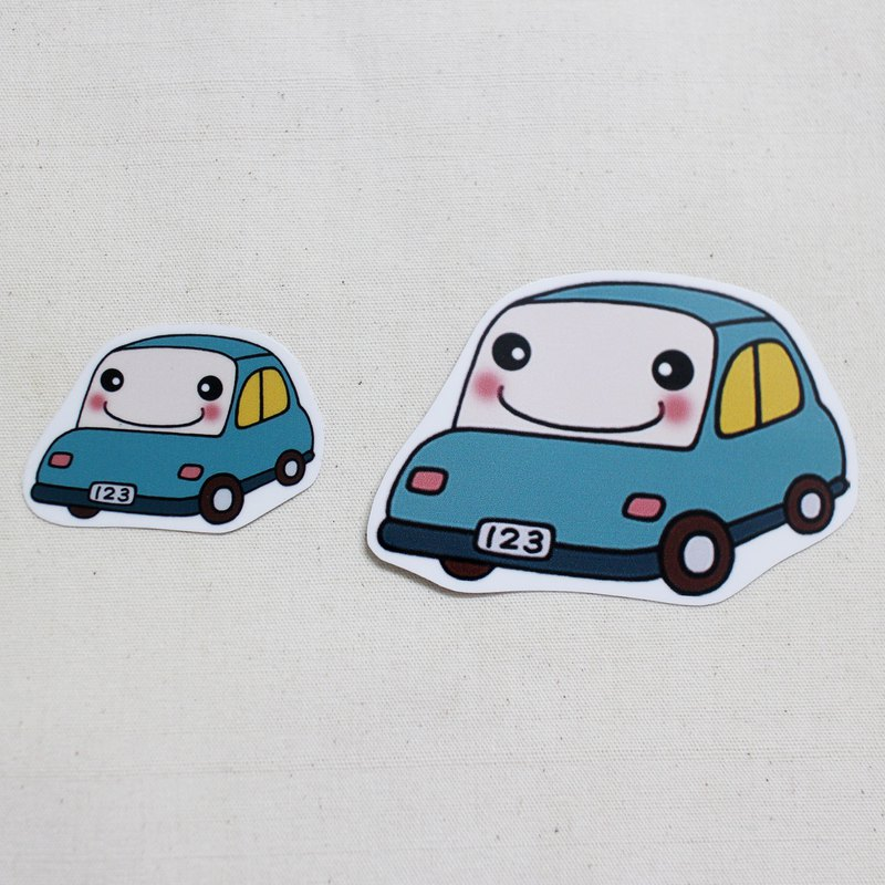 Waterproof stickers _ small car 01 (small passenger car)