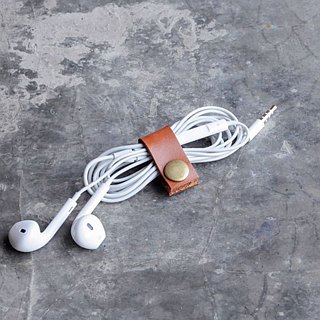 [DOZI leather hand made] earphone reel, hub, hub clip, charging cable storage
