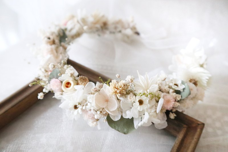 Eternal Flower Dry Wreath Ring / Headdress Garland / Bride / Bridesmaid / Wedding /