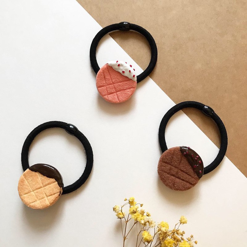 Round puff pastry / Hair accessories / Non-woven dessert / [Gift]