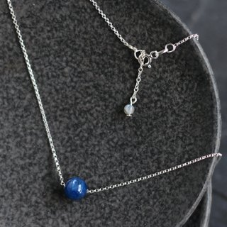 Blue tears. Minimalist natural stone sterling silver clavicle chain 5A blue crystal lime moonstone tail chain