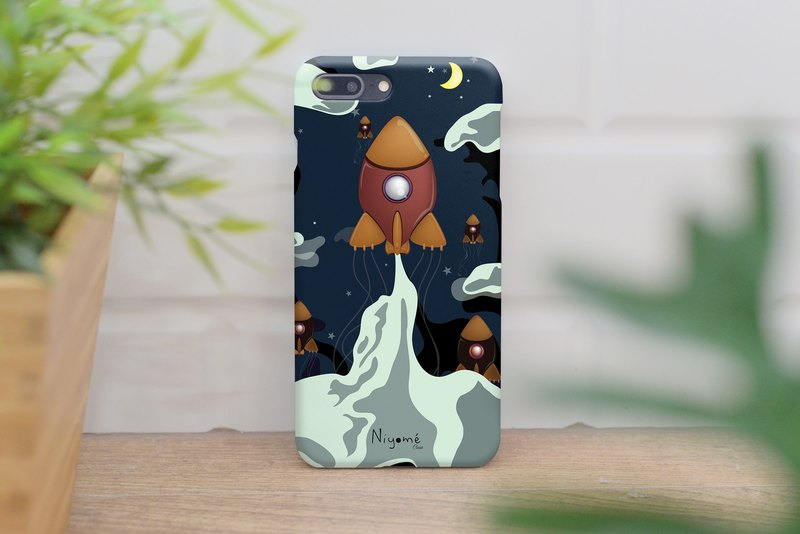 brown night rocket iphone case สำหรับ iphone 6,7,8, iphone xs, iphone xs max
