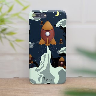 iphone case brown night rocket for iphone5s,6s,6s plus,7,7+, 8, 8+,iphone x