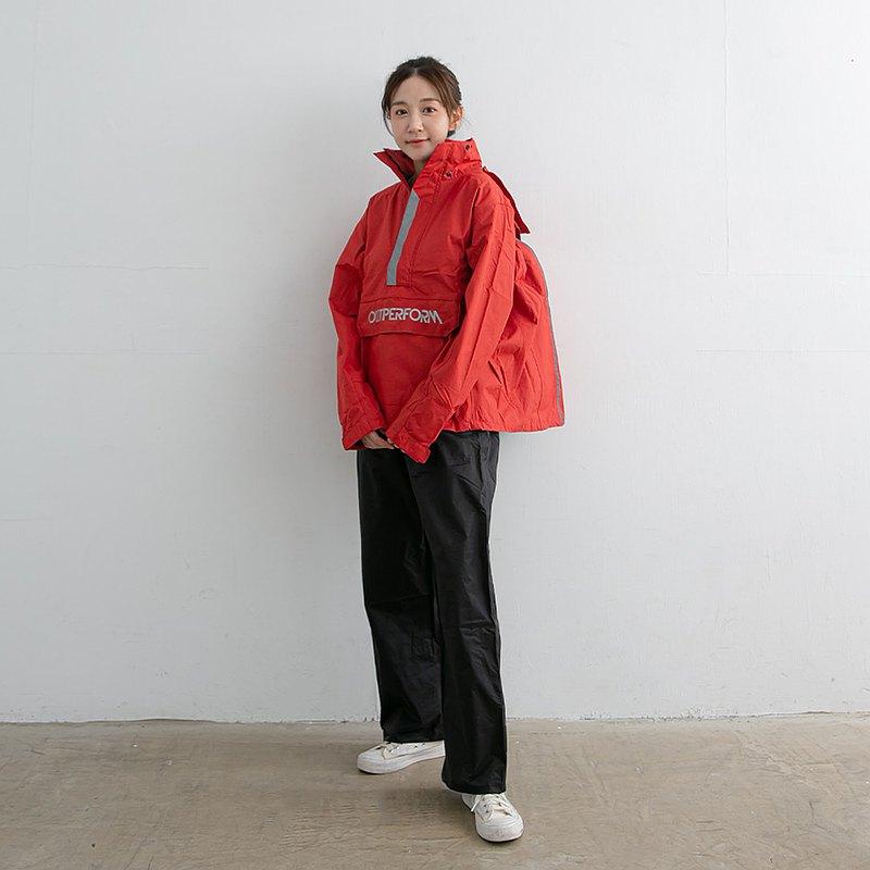 揹客 Packerism 套式背包款衝鋒雨衣搭配尼龍黑雨褲