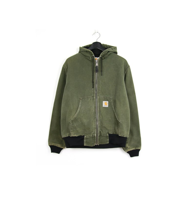 Back to Green:: Washed green hoodie / / CARHARTT Vintage