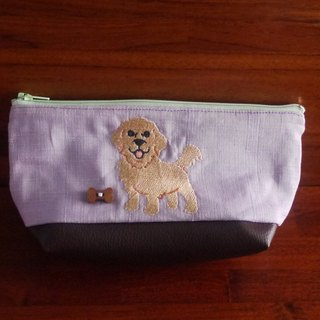 Golden Retriever Customized Embroidered Pen Bag Storage Bag 10 Colors (Free Embroidery English Name Please Note)