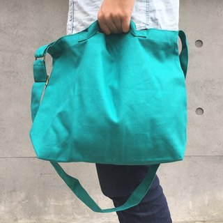 2 way canvas tote bag-Green No.1