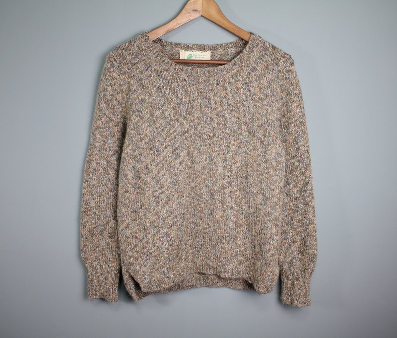 FOAK Vintage Stone Chocolate Mix Sweater