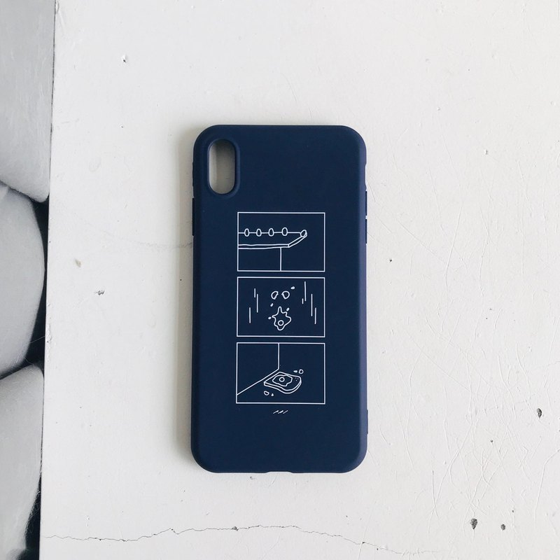Egg's life NAVY LIFE iphone illustration phone case all-inclusive soft shell dark blue
