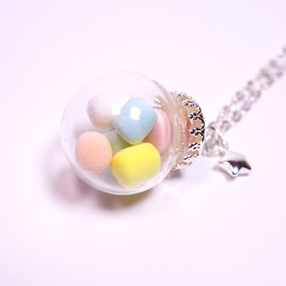 *Playful Design* Marshmallow in Glass Ball Necklace