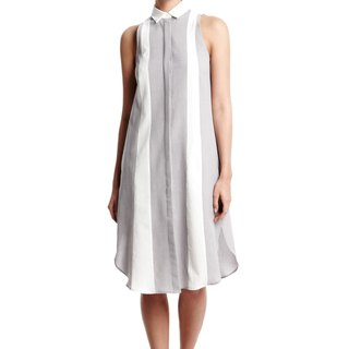 Robin Sleeveless Dress in Grey/White