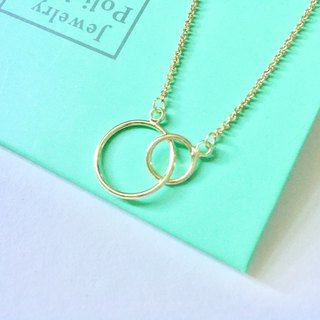 Simple plated 18K gold necklace [each other] Philosophers hand-made Valentine's Day gift special style exclusive design