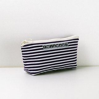 Lightweight style - detailed texture storage bag - striped purple