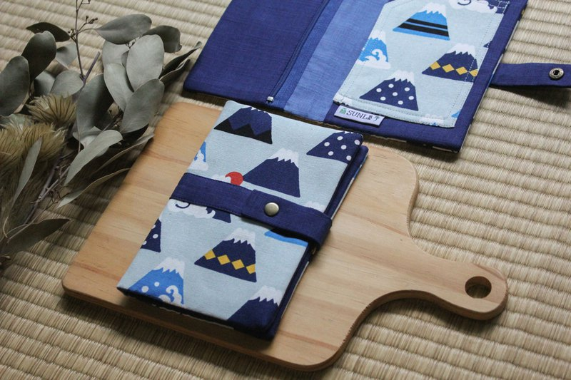 [Full Mount Fuji] Passport Holder / Passbook Set