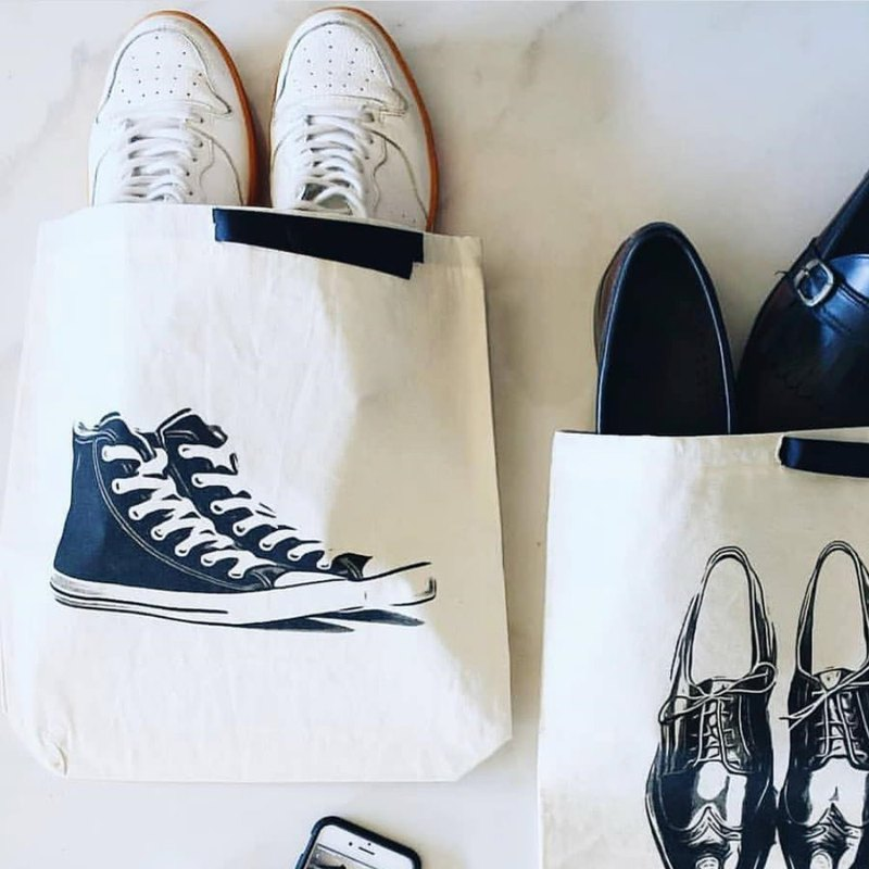 American bag-all canvas shoes beam storage bag