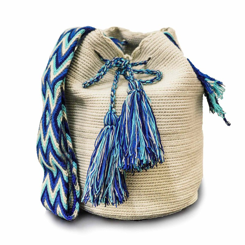 Wayuu Bag Wayou Bag (L) / Colombia handmade / only one per paragraph - [Rich Light Year]