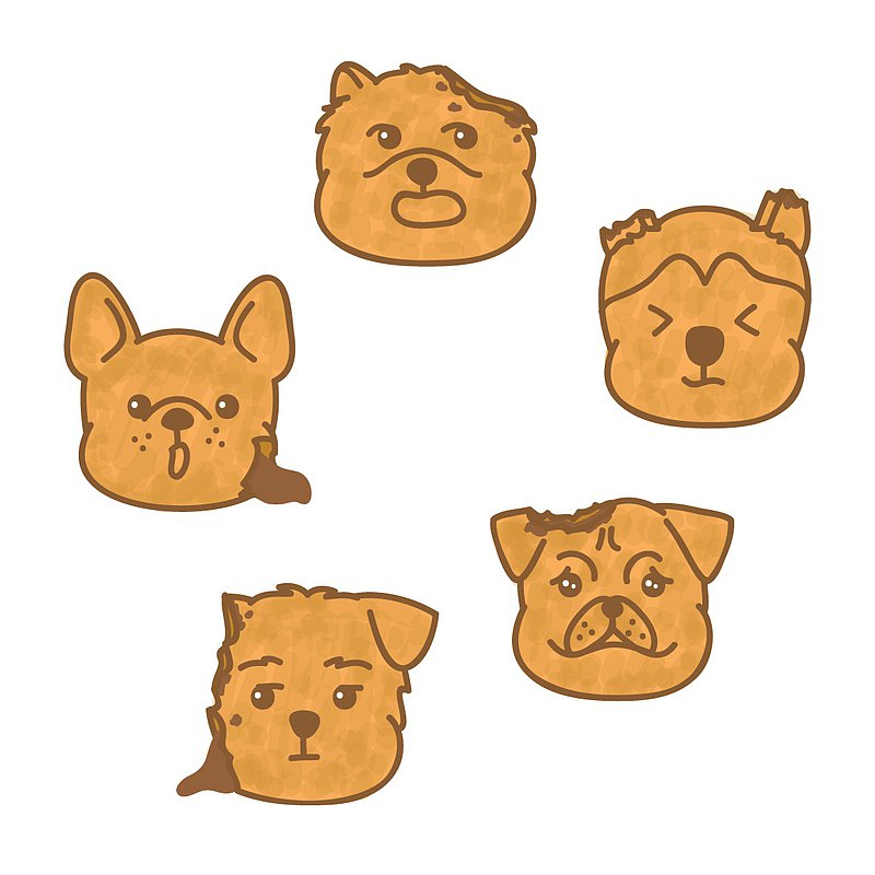Pocket Stickers | Bite Dog Cookies