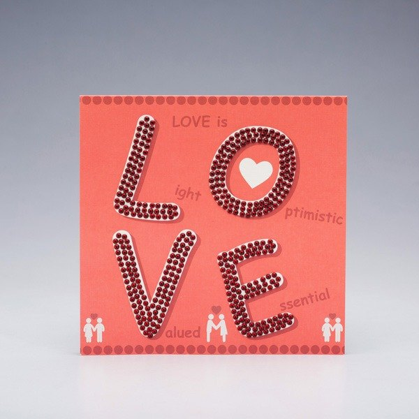 [] GFSD Rhinestone Collectibles - Hand teaser greeting card -LOVE IS ~