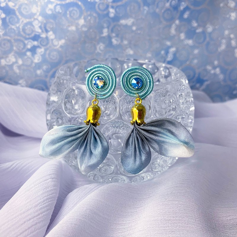 (Aquatic goldfish) Fine cloth flower dream earrings ear clip (part2)